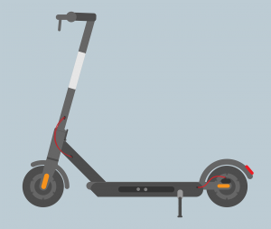 An illustration of an electric scooter