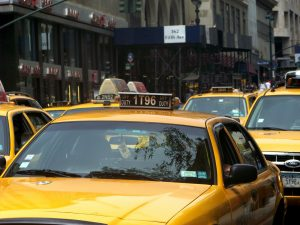 A yellow taxicab