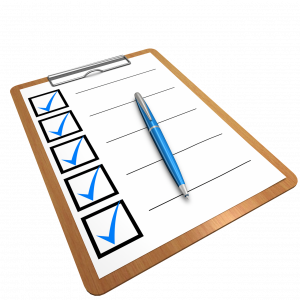 clipboard with checklist attached