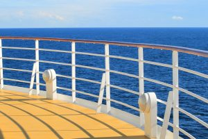 the deck of a cruise ship