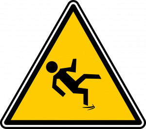 a slippery surface caution sign
