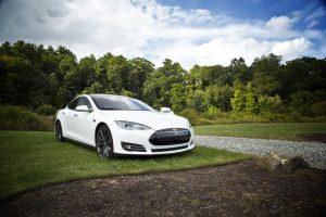 A White Tesla