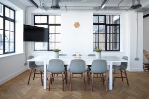 A modern office conference room