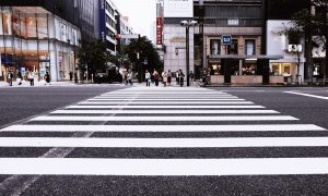 A city crosswalk